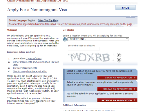 How Important is the DS-160 Online Application When Applying for a U.S. Visa?