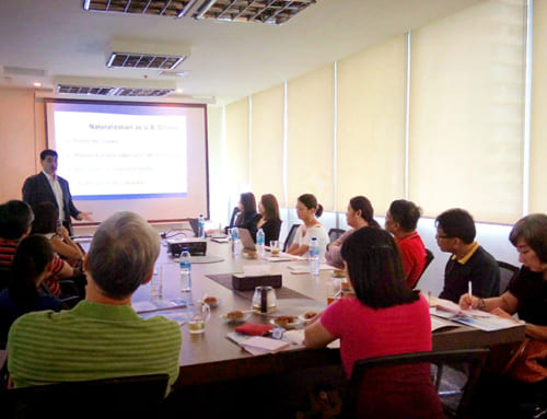 David Enterline and Ryan Barshop Present to Potential EB-5 Immigrant Investors in Manila Philippines
